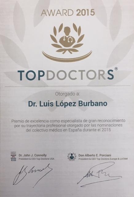Premio a la excelencia profesional por elección entre el colectivo médico en 2015
